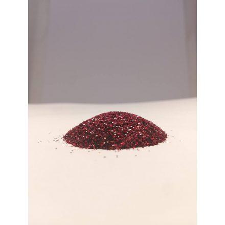 Csillámpor - 0,4mm - Red Wein
