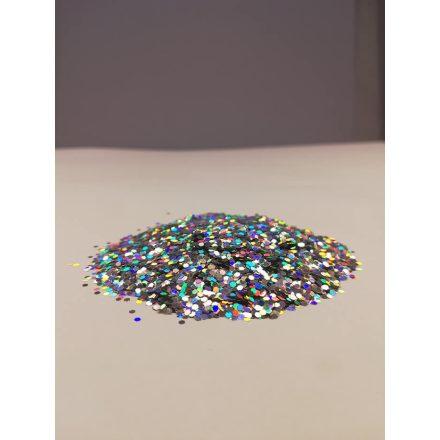 Csillámpor - 1mm - Silver
