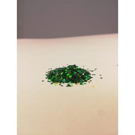 Csillámpor - 1mm - Green