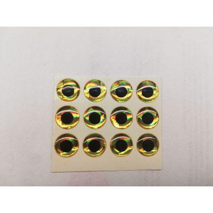 3D Arany, kerek - 10db - 8mm