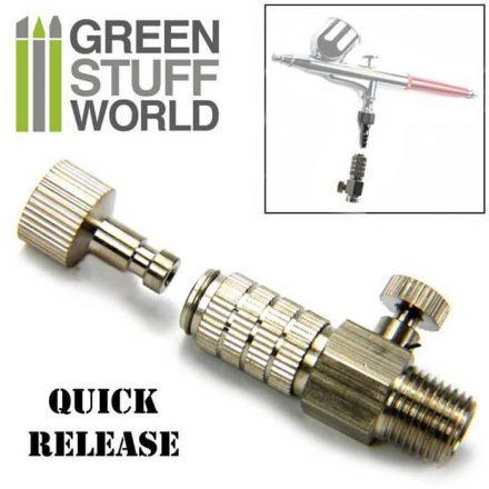 Green Stuff World airbrush gyorscsatlakozó légáramlatszabályzóval