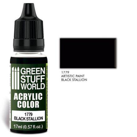 Green Stuff World acrylic color-black stallion