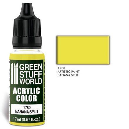 Green Stuff World acrylic color-banana split yellow
