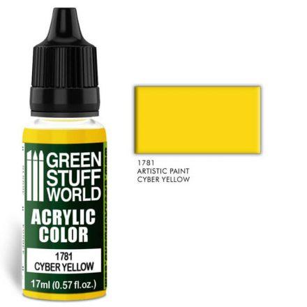 Green Stuff World acrylic color-cyber yellow
