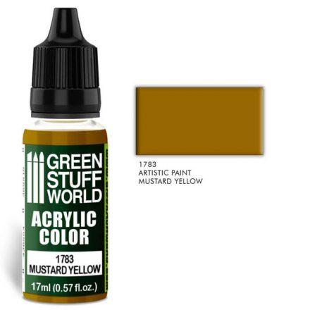 Green Stuff World acrylic color-musterd yellow