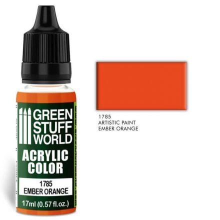 Green Stuff World acrylic color-ember orange