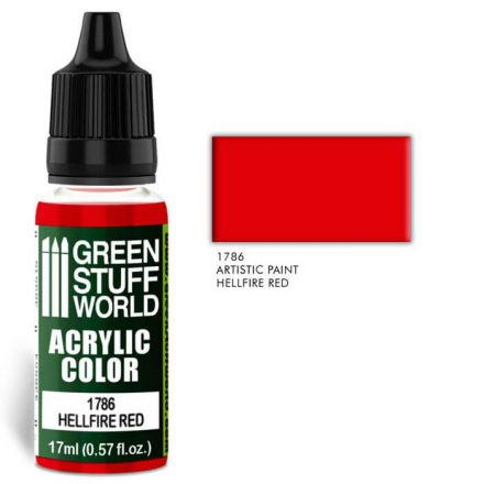 Green Stuff World acrylic color-hellfire red