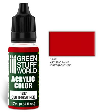 Green Stuff World acrylic color-cutthroat red