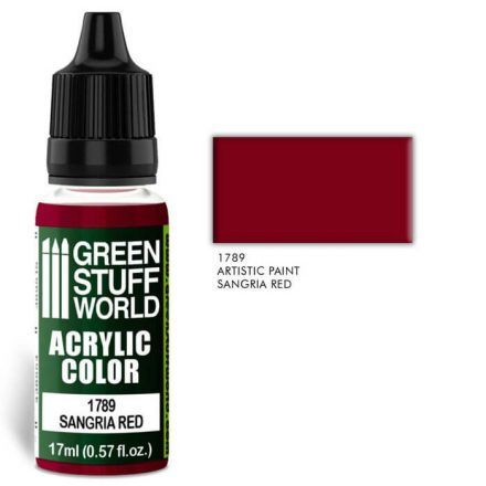 Green Stuff World acrylic color-sangria red