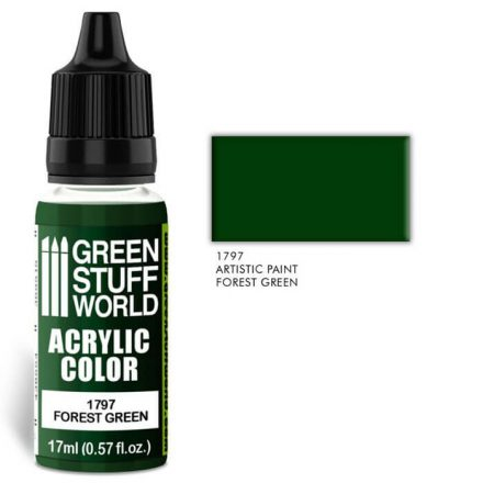 Green Stuff World acrylic color-forest green