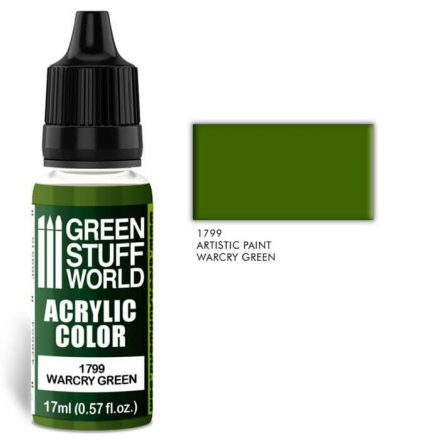 Green Stuff World acrylic color-warcry green