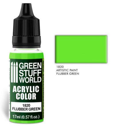 Green Stuff World acrylic color-flubber green