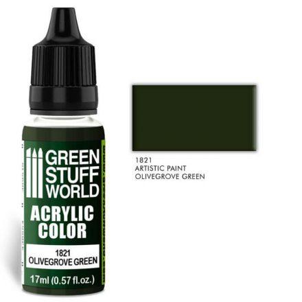 Green Stuff World acrylic color-olivegrove green