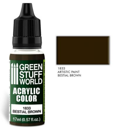 Green Stuff World acrylic color-bestial brown