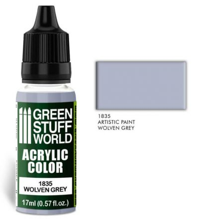 Green Stuff World acrylic color-wolven grey