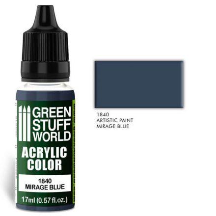 Green Stuff World acrylic color-mirage blue