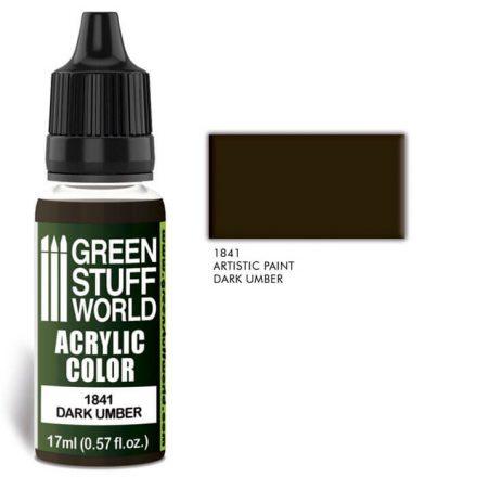 Green Stuff World acrylic color-dark umber
