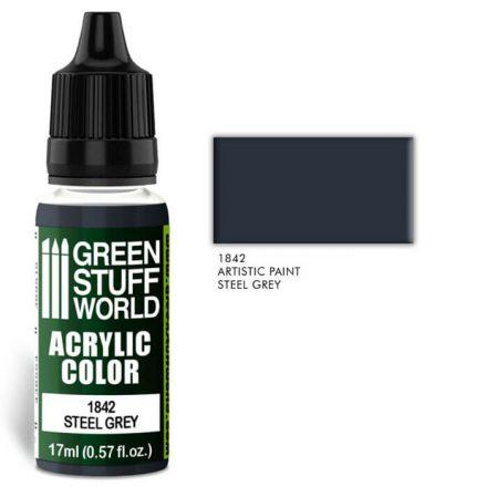 Green Stuff World acrylic color-steel grey