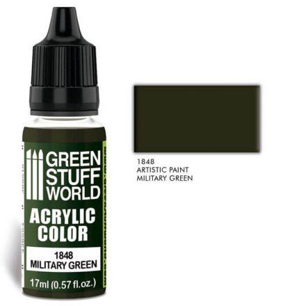 Green Stuff World acrylic color-military green