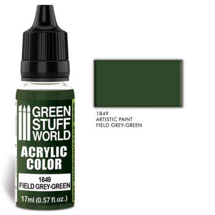 Green Stuff World acrylic color-field grey-green