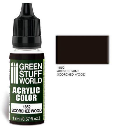 Green Stuff World acrylic color-scorched wood