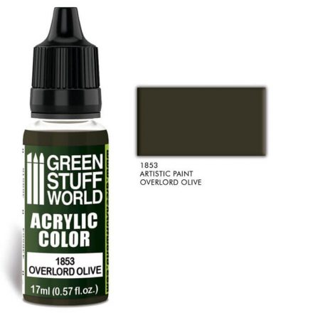 Green Stuff World acrylic color-overlord olive