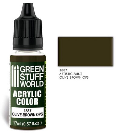 Green Stuff World acrylic color-olive brown ops