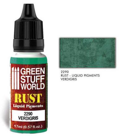 Green Stuff World RUST Liquid Pigments - Verdigris