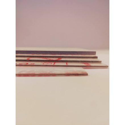 2mm vastag, víztiszta policarbonát lap, 20cm x 28cm - 1db